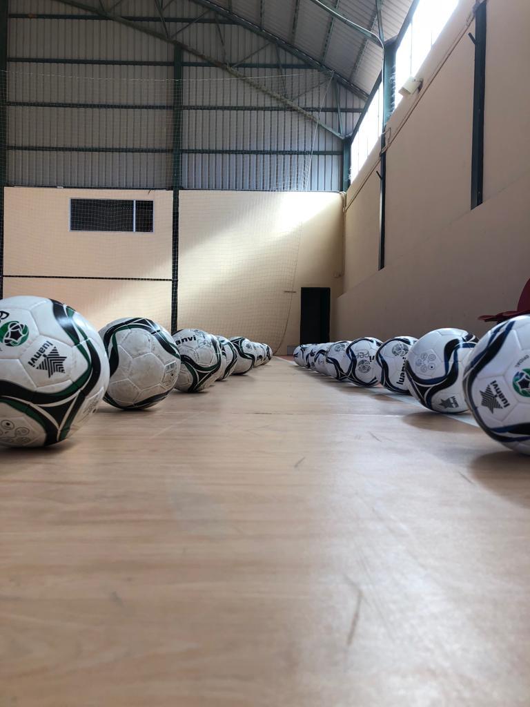 Donación de balones por el Ayuntamiento de Guadalupe 2018