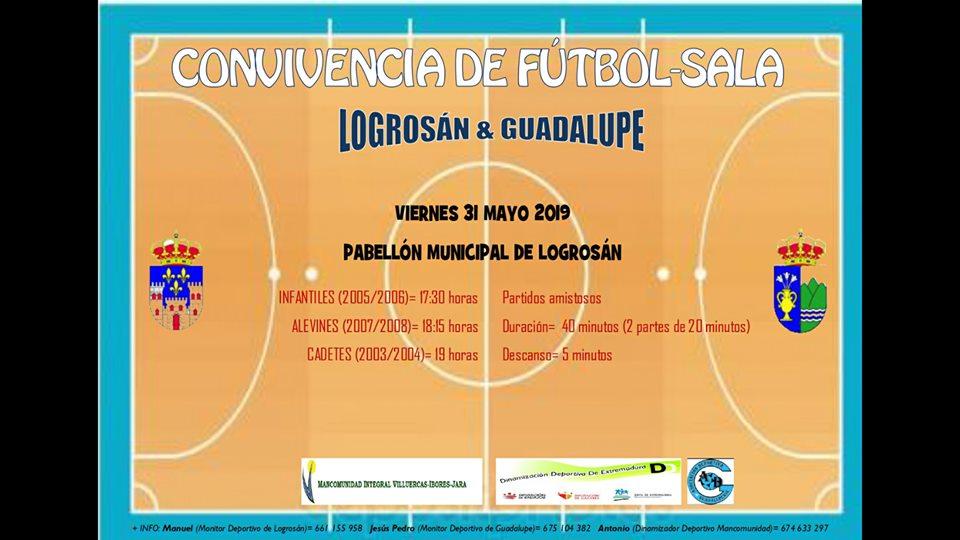 Convivencia de fútbol sala Logrosán y Guadalupe 2019