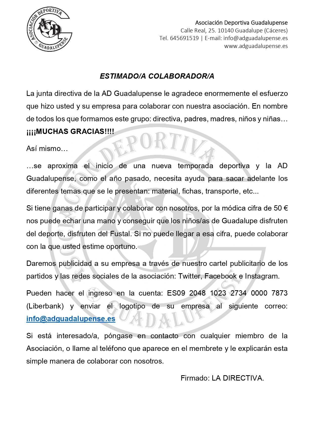 Carta colaborador 2019-2020