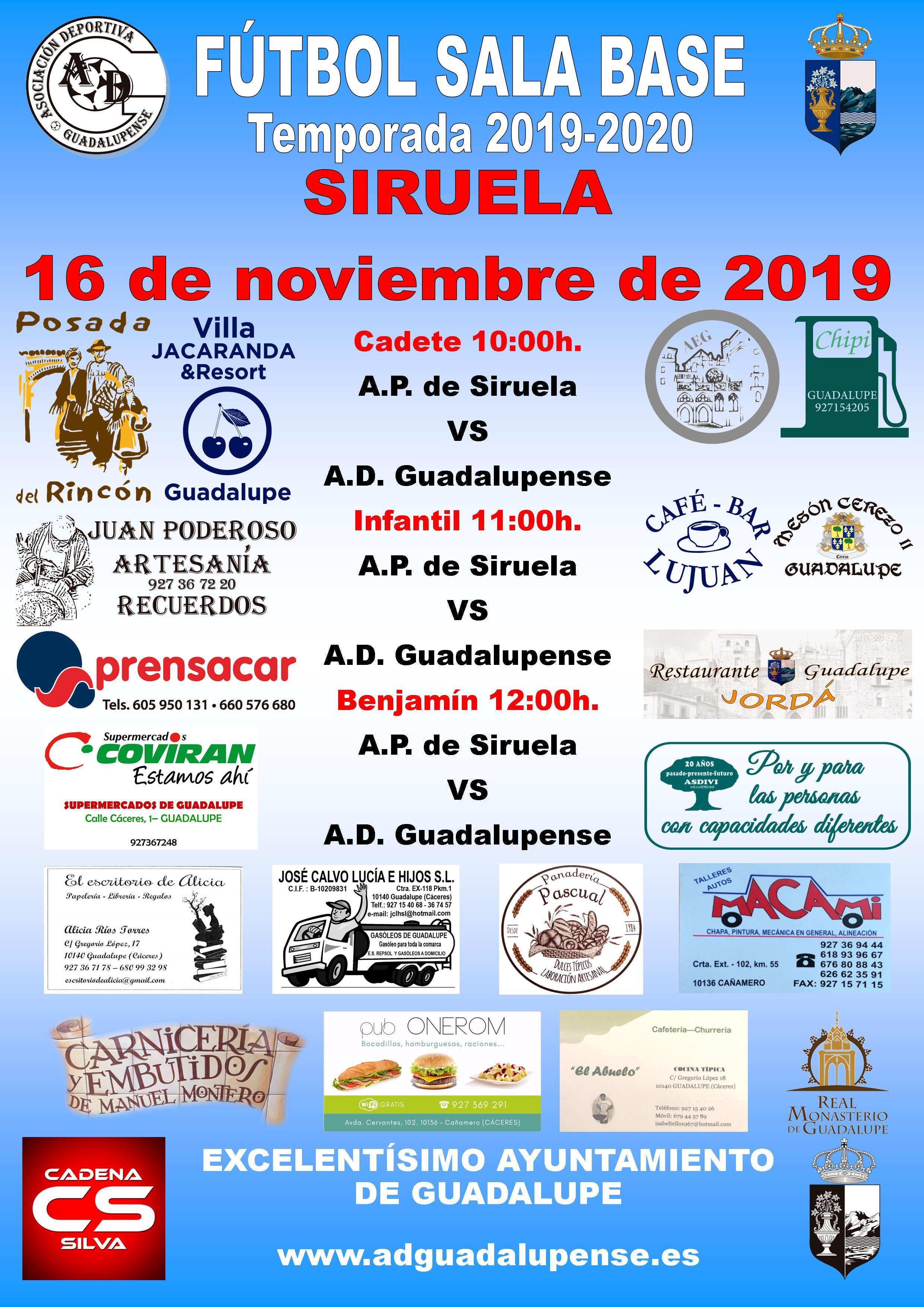 Horarios 16-11-2019