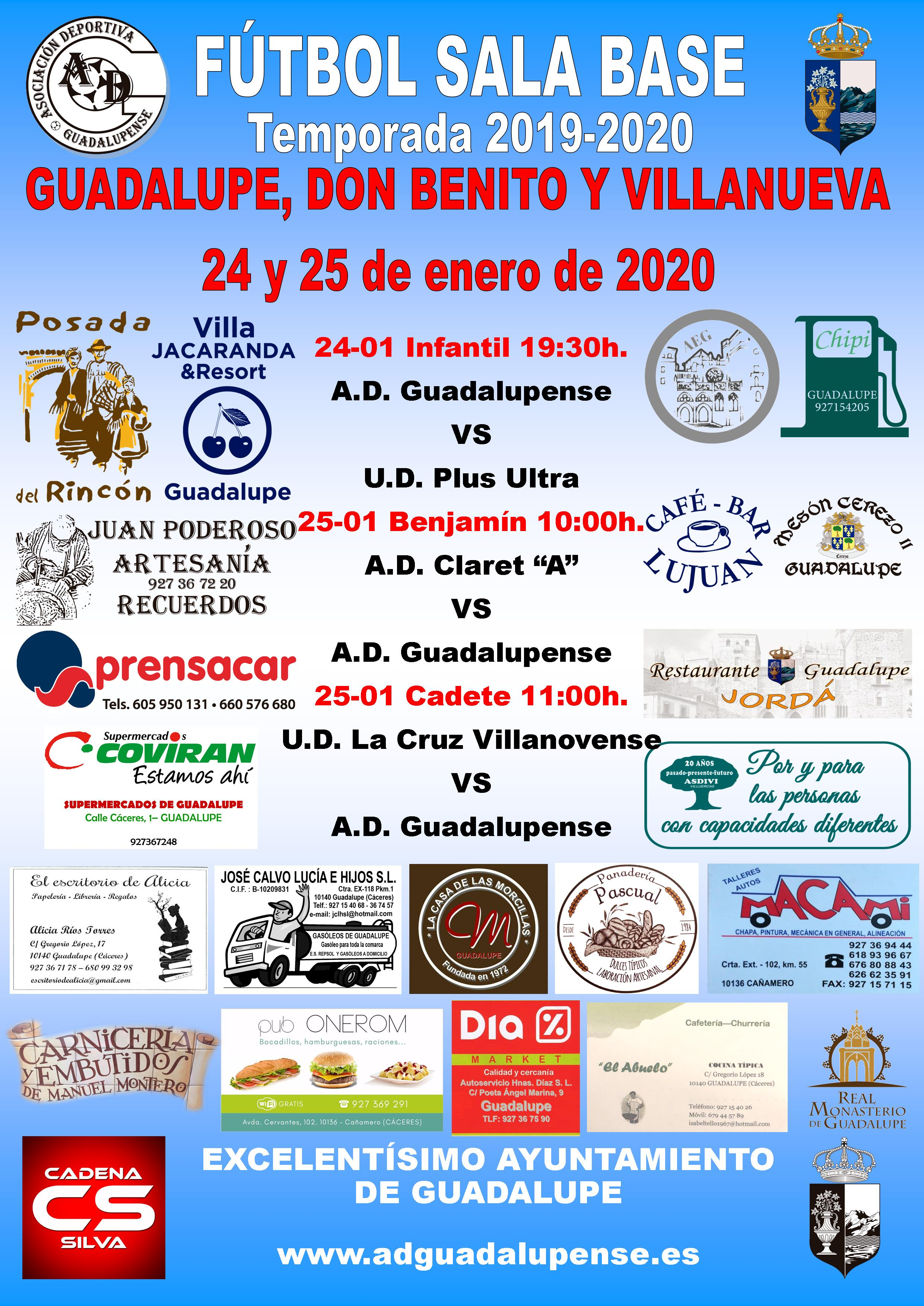 Horarios 24 y 25-01-2020